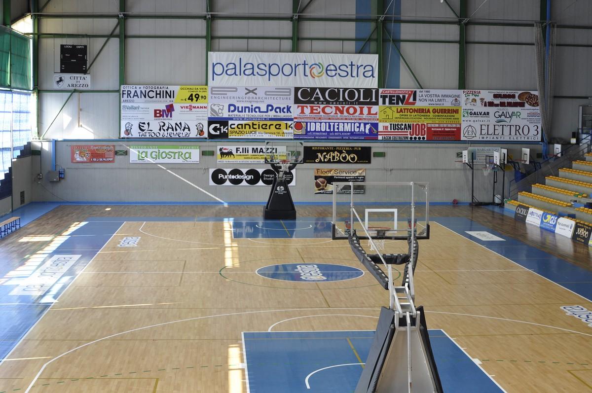 Il Palasport Estra Mario D'Agata al centro della pallacanestro giovanile Toscana